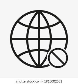 No internet connection icon. No signal sign.