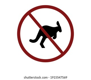 No kangaroo icon vector. Linear style sign for mobile concept and web design. No kangaroo symbol illustration. Pixel vector graphics - Vector