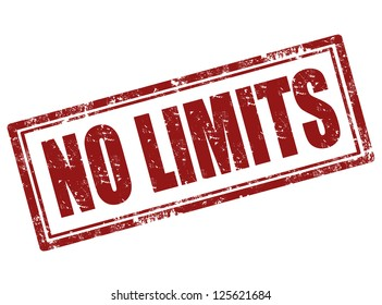 No limit grunge rubber stamp,vector illustration