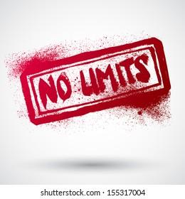 No limit grunge rubber stamp,vector illustration