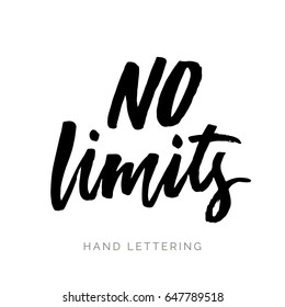 No limits. Brush pen lettering. Can be used for print (bags, t-shirts, home decor, posters, cards) and for web (banners, blogs, advertisement).
