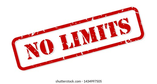 No limits red rubber stamp vector isolated
