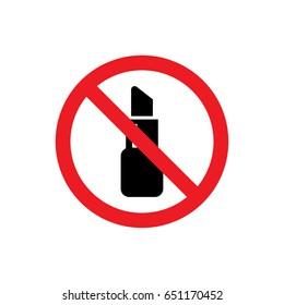No lipstick icon illustration isolated vector sign symbol
