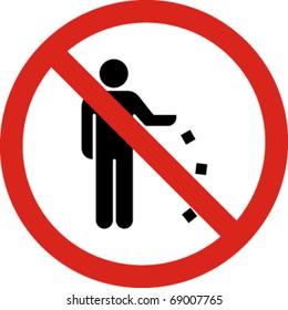 No littering sign in vector