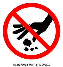No Littering Symbol Sign, Vector Illustration, Isolate On White Background Label .EPS10