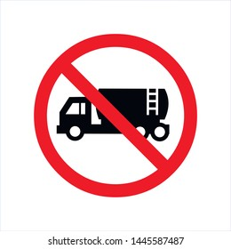 no lorry icon no truck transport sign vector
