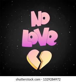 no love lettering broken heart 260nw 1329284972