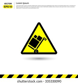 No luggage trolley - Yellow Traffic sign icon