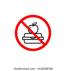 No lunchbox icon design template. Vector EPS 10