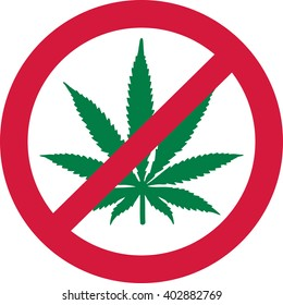 No Marijuana. Dope forbidden