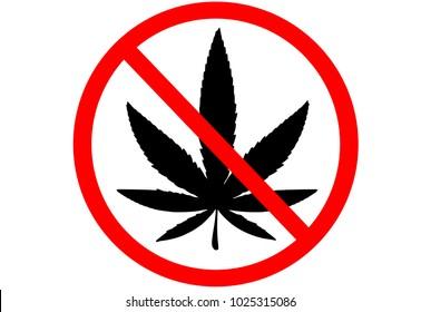 No marijuana sign illustration vector