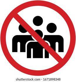 No Meeting sign illustration vector.