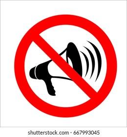 No megaphone icon