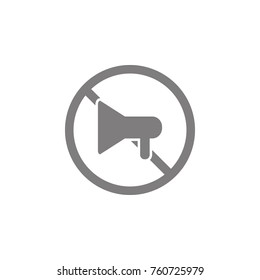 No megaphone icon. Web element. Premium quality graphic design. Signs symbols collection, simple icon for websites, web design, mobile app, info graphics on white background