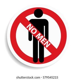 No men sign on white background.vector illustration