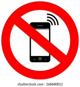 No mobile phone sign