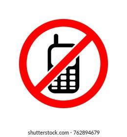 no mobile phone vector icon