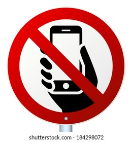 No mobile phones high-detailed vector icon