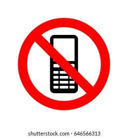 No mobile phones icon.