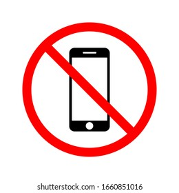 no mobile phones icon on a white background. eps vector 10
