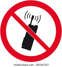 No Mobile/ Radio Devices Sign