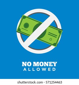 No money allowed sign