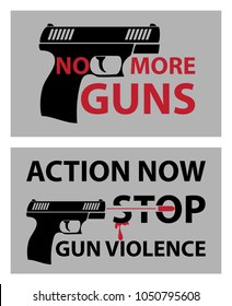 No more guns poster, March for our lives, Stop gun violence poster