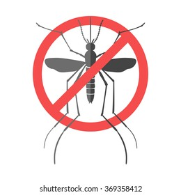 No mosquito sign. Mosquitoes carry many disease such as dengue fever, zika disease, yellow fever, chikungunya disease, filariasis, malaria , enchaphalitits and else.