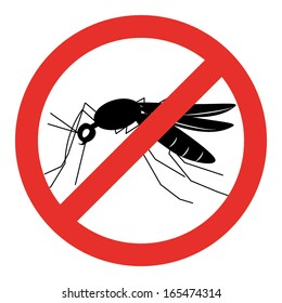 no mosquito sign , stop mosquito sign vector illustration