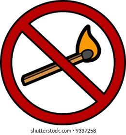 No Naked Flames Sign