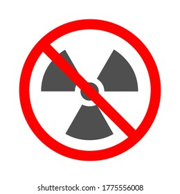 No Nuclear Power Sign Icon - Vector Illustration.