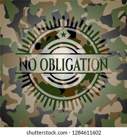 No obligation on camo pattern