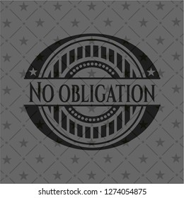 No obligation retro style black emblem