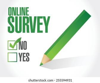 no online survey illustration design over a white background