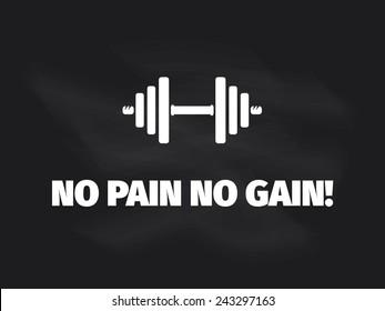 No Pain No Gain Images Stock Photos Vectors Shutterstock