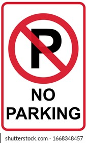 No Parking icon graphic design isolated on white background. Vector illustration