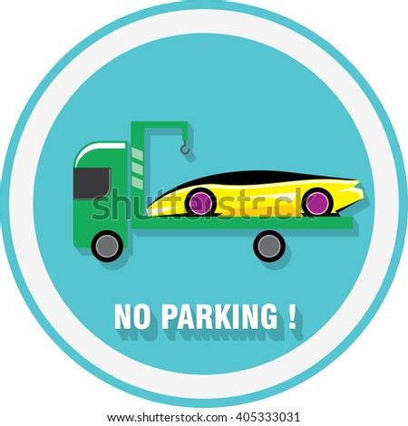 No Parking Sign Emblem Expensive Sports Stock Vector Royalty Free