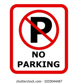 No parking sign icon. Vector