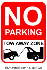 No parking sIgn , tow away zone illustration