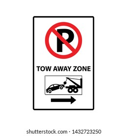 No parking , Tow away zone