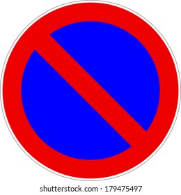 No Parking Traffic Sign Vector eps10