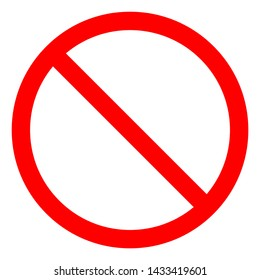 No Pass Symbol Sign, Vector Illustration, Isolate On White Background Label .EPS10