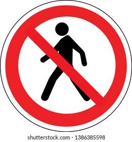 Pas d'accès pour piétons Illustration industrielle - Interdit au public - Pas d'admission !
