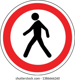 No Pedestrian Access industrial sign illustration - Forbidden to the public -  No admittance!