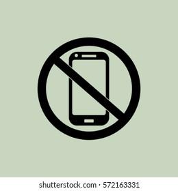 No phone icon, vector illustration