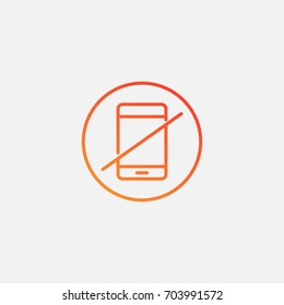 No phone icon.gradient illustration isolated vector sign symbol