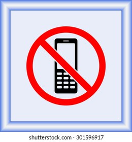 No phone sign icon, vector illustration. Flat design style
