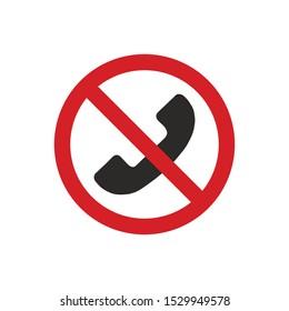 No phone sign. Prohibition symbol modern, simple, vector, icon for website design, mobile app, ui. Vector Illustration