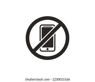 No phone, no smartphone sign symbol