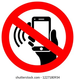 No phone using vector sign illustration isolated on white background